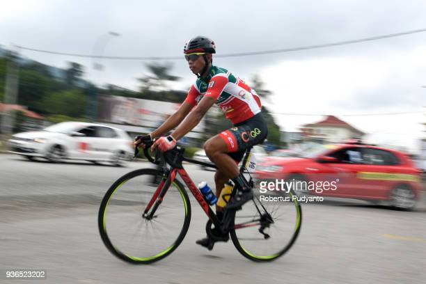 Bonjoe Martin of 7 ElevenCliqq Roadbike Philippines competes during Stage 5 of the Le Tour de Langkawi 2018 BentongCameron Highland 1694 km on March...