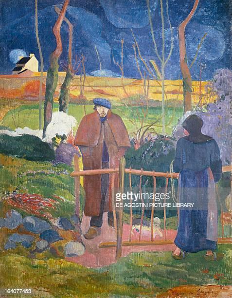 Bonjour Monsieur Gauguin by Paul Gauguin oil on canvas 92x74 cm Prague Národní Galeri V Praze
