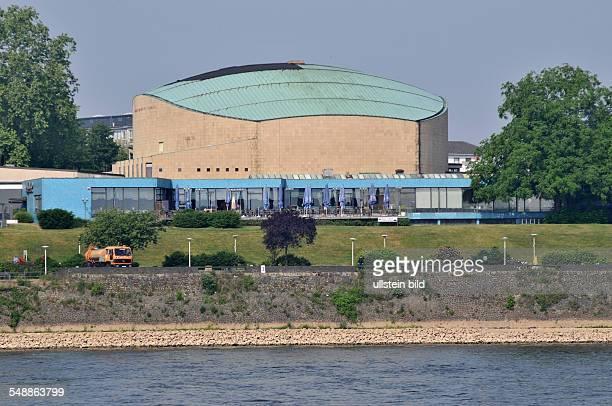 Beethovenhalle Halle Musikhalle Musiksaal Veranstaltungshalle Ansicht außen Außenansicht Gebäude Rhein Fluß