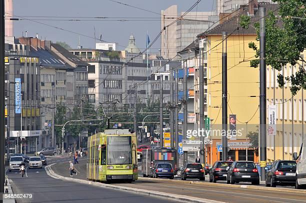 """Bonn : Straße """"Berliner Freiheit"""" Straße Straßenbahn Tram Verkehr Nahverkehr"""