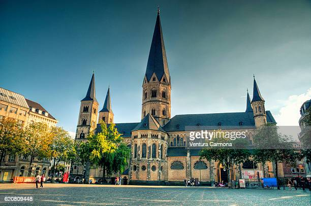 bonn minster (germany) - minster stock photos and pictures