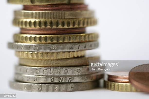 GERMANY Bonn Stack of euro coins