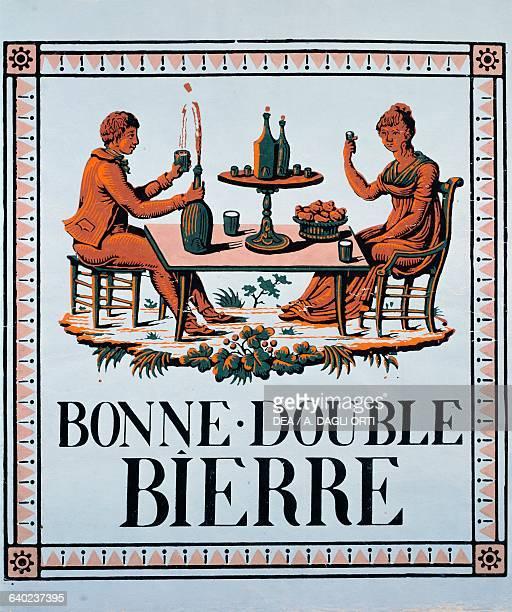 Bonne double bierre poster from ca 1810 France 19th century Paris Bibliothèque Des Arts Decoratifs