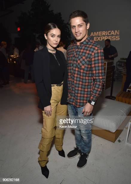 Bonner Bolton attends American Express x Justin Timberlake 'Man Of The Woods' listening session at Skylight Clarkson Sq on January 16 2018 in New...