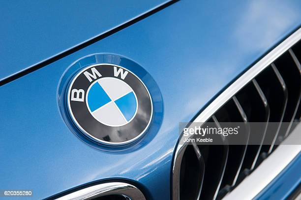 A BMW bonnet logo badge on October 20 2016 in Southend United Kingdom