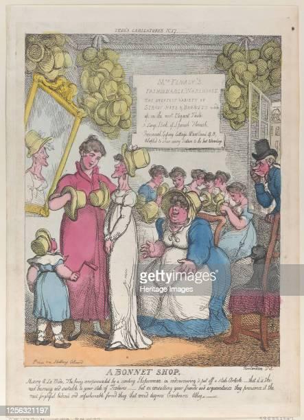 Bonnet Shop, May 15, 1810. Artist Thomas Rowlandson.