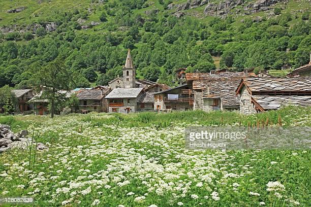 bonneval-sur-arc, parc national de la vanoise, savoie, france - savoie stock pictures, royalty-free photos & images
