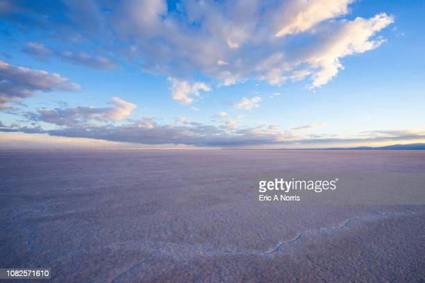 bonneville salt flats after sunset - salt flat stock pictures, royalty-free photos & images