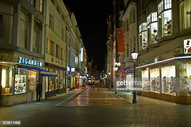 Bonngasse at night, in Bonn, Germany, 09 September 2014. Bonn, that offers many touristic attractions, was founded in the first century BC as a Roman...