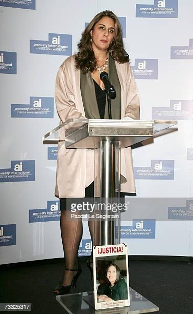 Bonnie Abaunza Director of Amnesty International USA attends the 'Artists For Amnesty' Award at Solar restaurant during the 57th Berlin International...