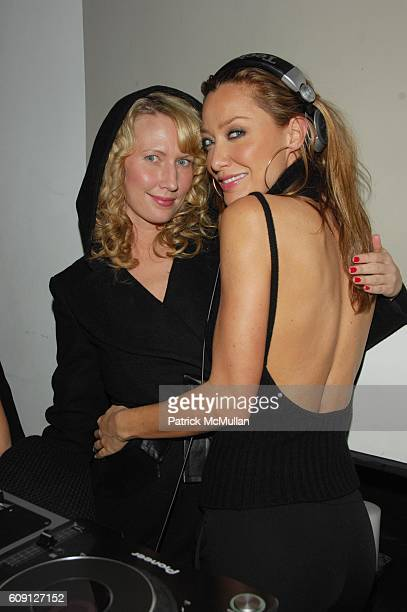 Bonnie and DJ Sky Nellor attend Emma SnowdonJones and Antony Todd host private kickoff of the Lady DJ Series at THOM Bar Thompson Hotel NYC on...