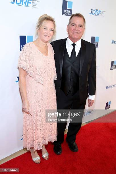 Bonnie Bales and honoree Andy Bales attend JDRF Los Angeles chapter 2018 Imagine Gala at The Beverly Hilton Hotel on May 12 2018 in Beverly Hills...
