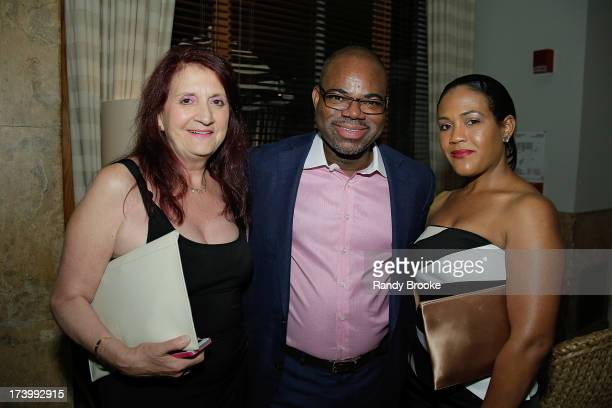 Bonnie Bien Isaac Daniel and Alexia Jones at MercedesBenz Fashion Week Swim 2014 Kick Off Party at Raleigh Hotel on July 18 2013 in Miami Beach...