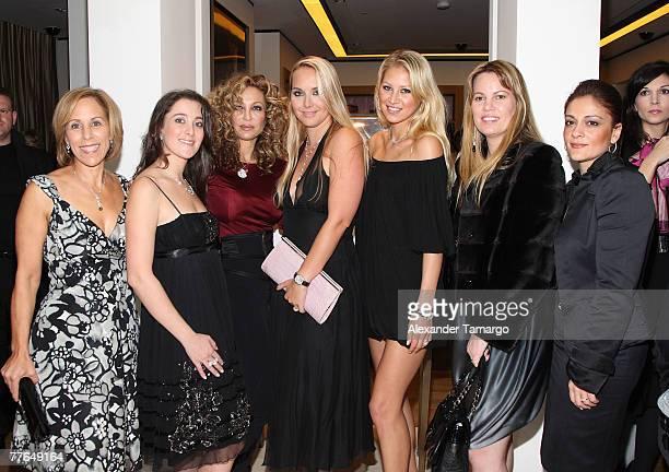 Bonnie Clearwater Susanne Birbragher Lisa Pliner Christina Getty Maercks Anna Kournikova Allison Weiss Brady and Anabela Sotelo pose during a...