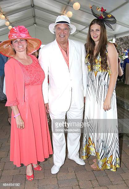 Bonnie Comley Stewart F Lane and Leah Lane attend the 39th Annual Hampton Classic Horse Show Grand Prix on August 31 2014 in Bridgehampton New York