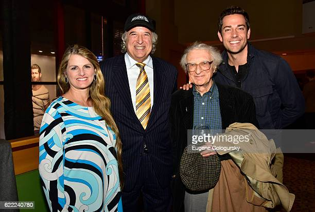 Bonnie Comley Stewart F Lane Sheldon Harnick and Zachary Levi attend the BroadwayHD First Anniversary Party at AMC Empire Theatre on November 10 2016...