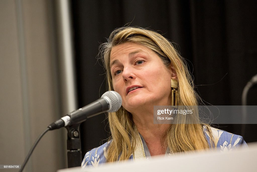 Bonnie Comley, Vice President of BroadwayHD speaks onstage at the 'Keeping Performing Arts Alive in a Digital World' panel during SXSW at the Austin Convention Center on March 13, 2018 in Austin, Texas.