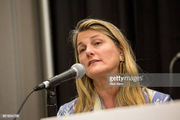 Bonnie Comley Vice President of BroadwayHD speaks onstage at the 'Keeping Performing Arts Alive in a Digital World' panel during SXSW at the Austin...