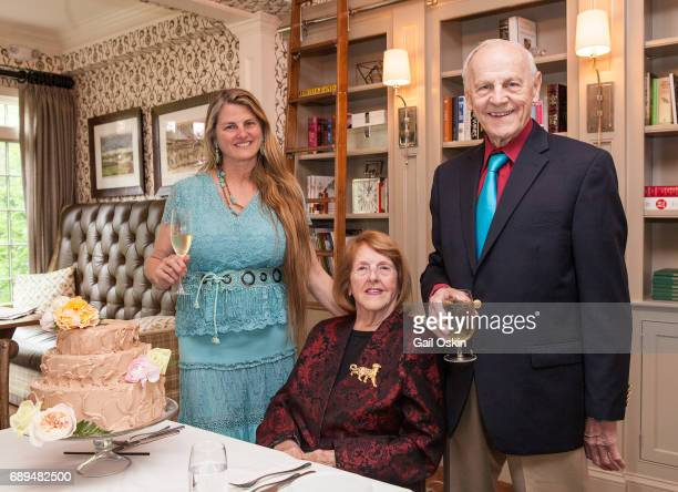Bonnie Comley Virginia Comley and James F Comley attend A Special Celebration Honoring Virginia Comley at The Inn at Hastings Park in Lexington...