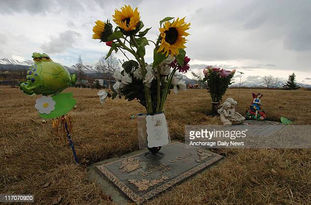 Bonnie Craig's resting place in the Garden of Love at Angelus Memorial Park off Klatt Road in South Anchorage Delaney Zutz another teenager who was...