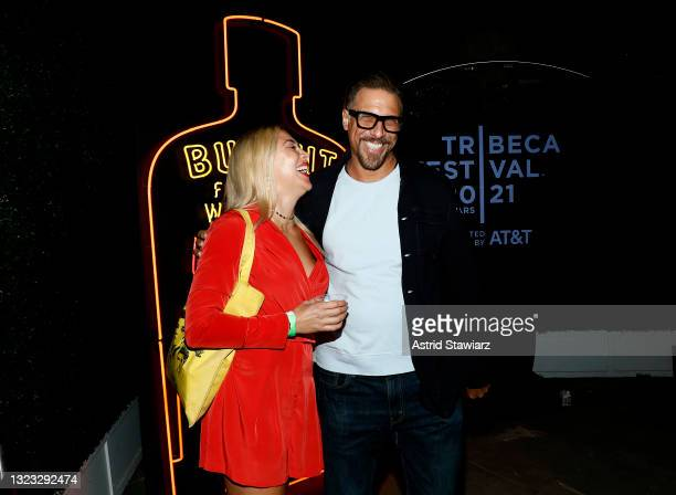 Bonnie Discepolo and Trevor Munson attend the Italian Studies after party at The Battery Hosted By Bulleit Frontier Whiskey during the 2021 Tribeca...