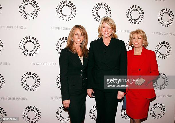Bonnie Hammer, President of USA and Sci-fi Networks, Media Personality Martha Stewart and Patricia Mitchell, President and CEO of The Paley Center...