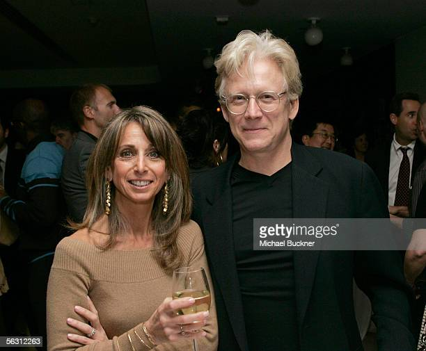 Bonnie Hammer President USA Network/Sci Fi Channel and actor Bruce Davison attend the after party for the Sci Fi Channel's The Triangle at the Astra...