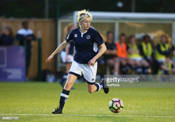 Bonnie Horwood of Millwall Lionesses L during FA Women's Super League 2 match between Millwall Lionesses and Aston Villa Ladies FC at St Paul's...