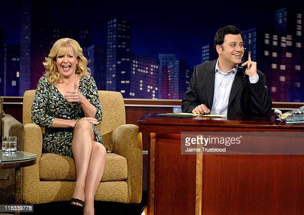 Bonnie Hunt and Host Jimmy Kimmel on the Jimmy Kimmel Live show on ABC Photo by Jaimie Trueblood/WireImage/ABC