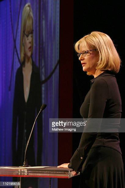 Bonnie Hunt presenter during 8th Annual Art Directors Guild Awards Show at The Beverly Hiton Hotel in Beverly Hills California United States