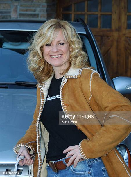 Bonnie Hunt with the Mercedes Benz M Class during 2005 Park City Mercedes Benz at the Motorola Lodge Day 3 at Motorola Lodge in Park City Utah United...