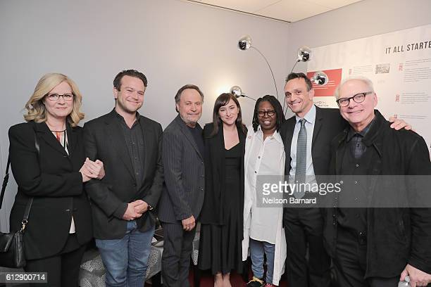 Bonnie Hunt Zachary Pym Williams Billy Crystal Zelda Williams Whoopi Goldberg Hank Azaria and Barry Levinson attend the grand opening Of SAGAFTRA...