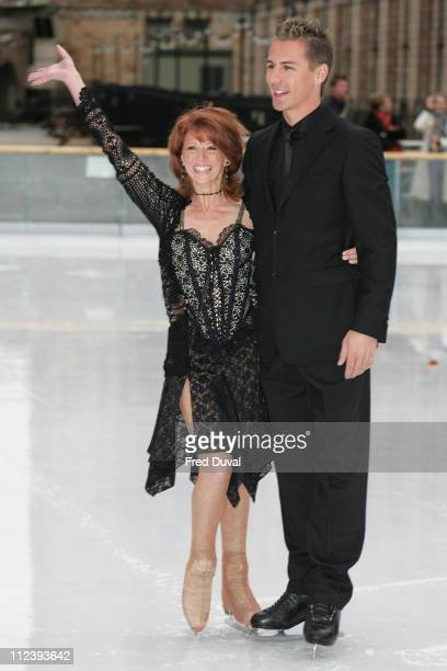 Bonnie Langford and Matt Evers during 'Dancing on Ice' TV Press Launch at Natural History Museum in London Great Britain