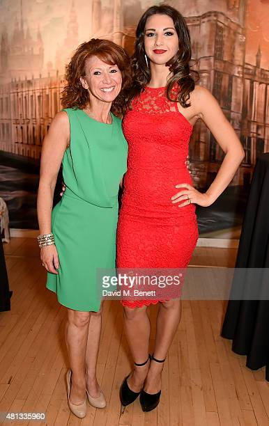 Bonnie Langford and Zizi Strallen attend the press night performance of 'The Car Man' at Sadler's Wells Theatre on July 19 2015 in London England