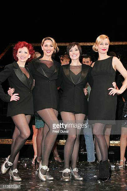 Bonnie Langford Claire Sweeney Ruthie Henshall and Denise Van Outen attend the 10th anniversary performance of Chicago at the Cambridge Theatre...