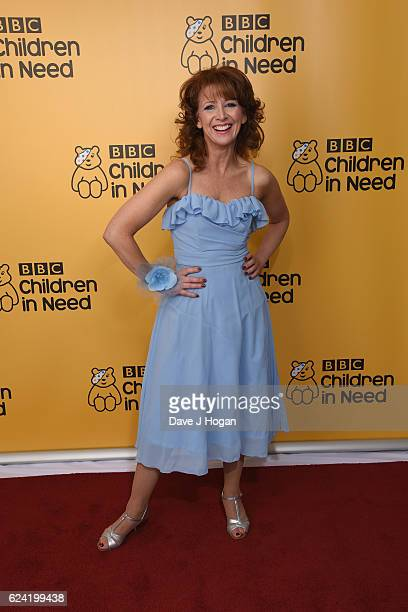 Bonnie Langford shows support for BBC Children in Need at Elstree Studios on November 18 2016 in Borehamwood United Kingdom