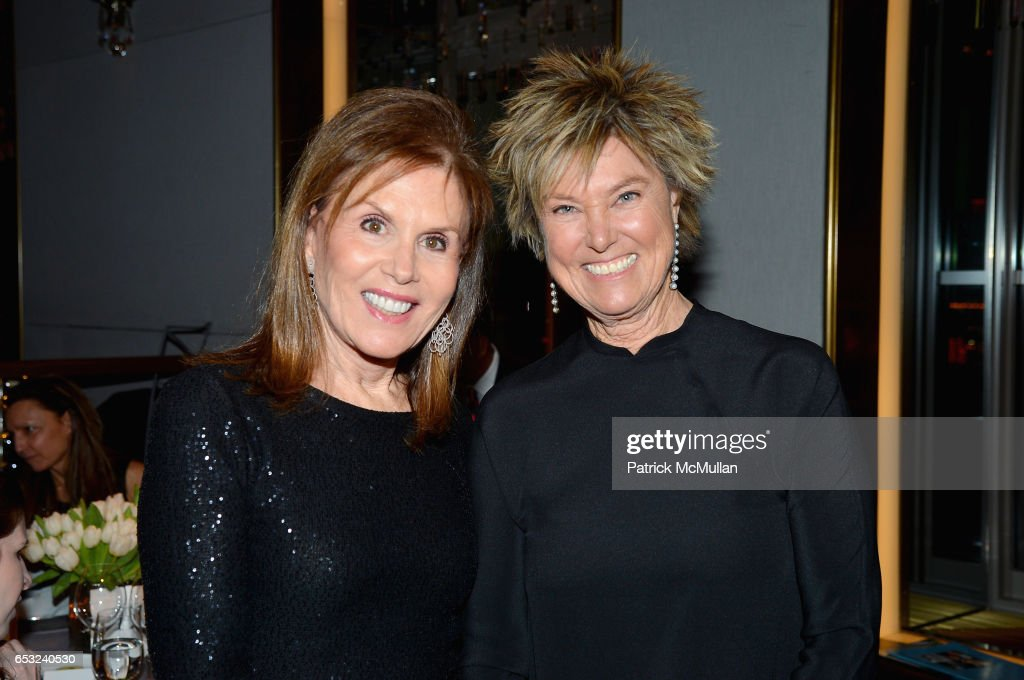 Bonnie Lautenberg and Edwina von Gal attend the Guild Hall Academy of the Arts Achievement Awards & Benefit Dinner at The Rainbow Room on March 13, 2017 in New York City.