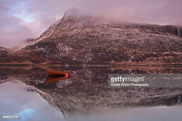 bonnie loch maree - wester ross stock pictures, royalty-free photos & images