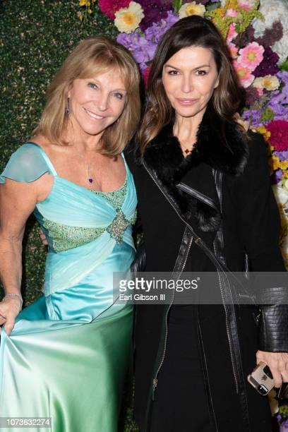 Bonnie Lythgoe and Finola Hughes attend the World Premiere Of Lythgoe Family Pantos' 'The Wonderful Winter Of Oz' Opening Night at Pasadena Civic...