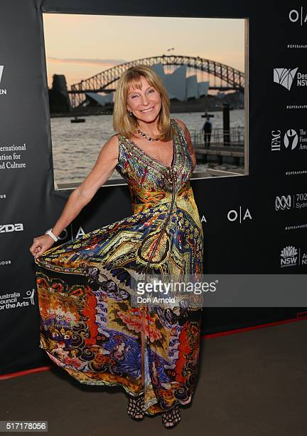 Bonnie Lythgoe arrives ahead of opening night of Handa Opera's Turandot on March 24 2016 in Sydney Australia