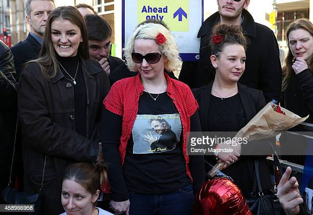 Bonnie Mayall and Rosie Mayall attend a memorial bench for the late Rik Mayall is unveiled on November 14 2014 in London England