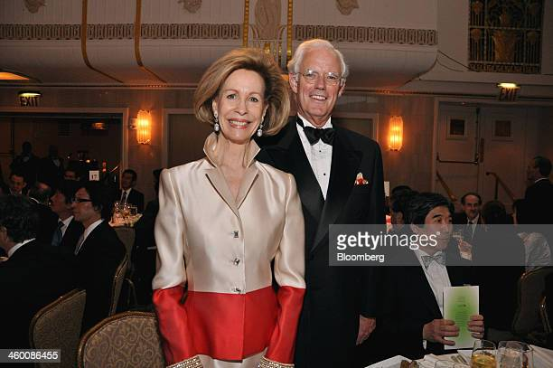 Bonnie McElveenHunter chairman of American Red Cross left and Alan MacDonald chief operating officer of global banking of Citigroup Inc attend a gala...
