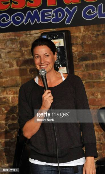 Bonnie McFarlane performs at The Stress Factory Comedy Club on August 26, 2010 in New Brunswick, New Jersey.