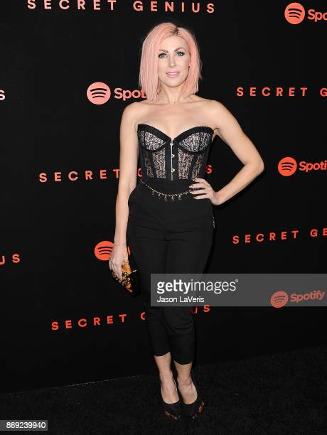 Bonnie McKee attends Spotify's inaugural Secret Genius Awards at Vibiana Cathedral on November 1 2017 in Los Angeles California