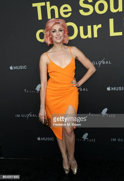 Bonnie McKee attends the Apple Music Los Angeles Premiere Of 'Clive Davis The Soundtrack Of Our Lives' at Pacific Design Center on September 26 2017...