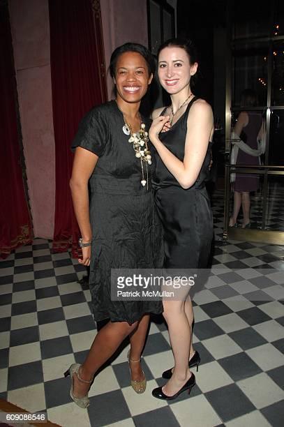 Bonnie Morrison and Alexis Bryan attend DIANE VON FURSTENBERG and RICHARD LAMBERSTON toast ROBERT LEE MORRIS at Rose Bar Gramercy Park Hotel NYC on...