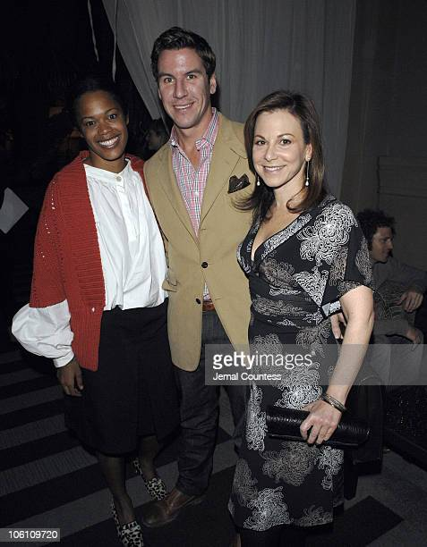 Bonnie Morrison Peter Davis and Bettina Zilkha during The Cinema Society and Cole Haan Screening of THINKFilm's Candy After Party at Soho Grand in...