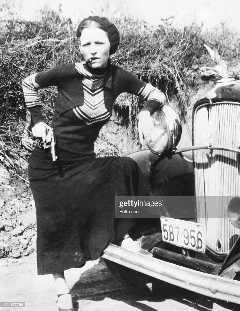 Bonnie Parker, partner of Clyde Barrow.