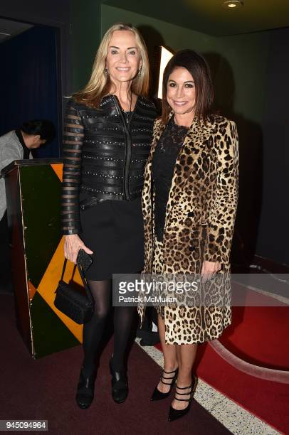 Bonnie Pfeifer Evans and Caroline Hirsch attend Stand Up For A Cause Johnny Mac Tennis Project Comedy Night at Carolines On Broadway on April 11 2018...
