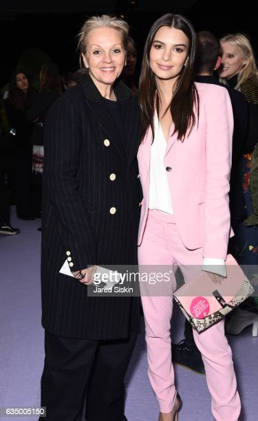 Bonnie Pfeifer Evans and Emily Ratajkowski attend the Altuzarra Runway Show during New York Fashion Week at Spring Studios on February 12 2017 in New...